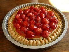 Jordbærtærte med mazarin og gele