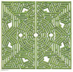 Labyrinthus I Le Parc des Labyrinthes I This is an example of a corn maze design from the Alsace region Labyrinth Garden, Labyrinth Maze, Amazing Maze, Maze Design, Dragons, Garden Design Plans, Corn Maze, Crop Circles, Parcs