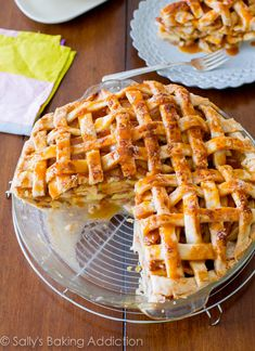 Salted Caramel Apple Pie - Recipe by sallysbakingaddiction.com @Sally M. [Sally's Baking Addiction]