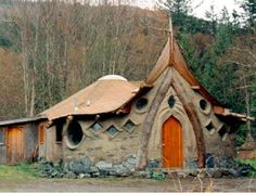 Cob is a mixture of clay, sand and straw that can be worked like clay and sculpted into free-form structures including houses