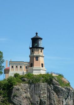 Historic Split Rock Lighthouse on Hwy 61 about 48 miles north of Duluth and 20 miles north of Two Harbors. The famous lighthouse is open mid-May through mid-October. It's located within Split Rock Lighthouse State Park.