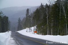 Kancamagus Highway, New Hampshire, USA in the snow pictures, free use ...