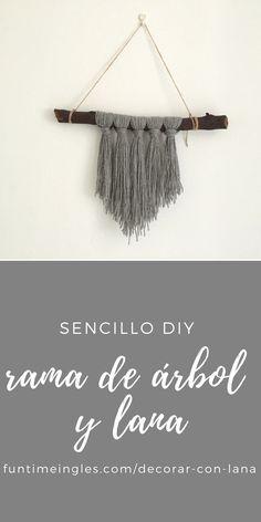 Hoy os propongo un diy muy sencillo para darle la bienvenida al otoño con una rama de un árbol y lana. ¡Ya verás qué sencillo es decorar con lana!