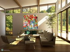 Original art is an expression of you, here's an idea of how our paintings could look in your home