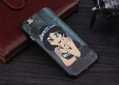 Biker Party girl Pin up Car Disney Ariel Snow White white Alice in wonderland Jasmine Apple iphone SE 5 5s 6 6s Plus 6Plus