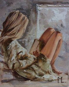 Monika Luniak - Paintings for Sale Painting People, Love Painting, Paintings For Sale, Original Paintings, Foto Portrait, Lovers Art, Female Art, Diy Art, Art Inspo