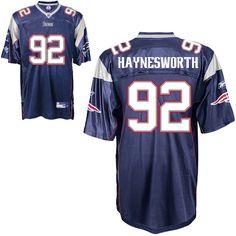 Patriots #92 Albert Haynesworth Dark Blue Embroidered NFL Jersey! Only $21.50USD