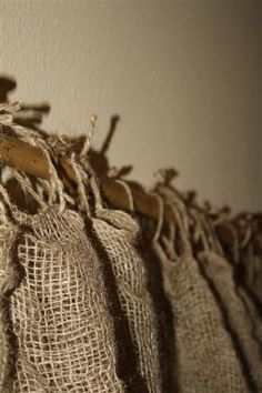 burlap curtains going to do this for my upstairs bathroom, will still get enough light for my plants.