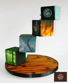 4 Elements Earth Air Fire Water by Baked4U