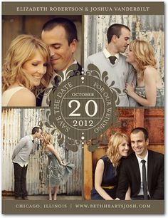 i like the paperless post idea for a save the date but this is cute
