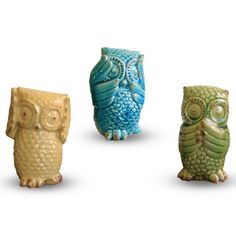 Find it at the Foundary - Set of 3 Ceramic Owls