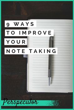 One easy area to improve on at school or college is your note taking. Learn some basic techniques for note taking that's faster, more efficient and more useful.