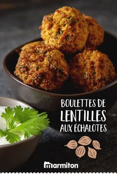Boulettes de lentilles aux échalotes We try this reccete of vegetarian meatballs based on lentils, and we are full of good things! Salmon Recipes, Veggie Recipes, Vegetarian Recipes, Healthy Recipes, Protein Recipes, Keto Recipes, Vegetarian Meatballs, Food Stamps, Albondigas