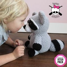 Roxie the Raccoon Crochet Pattern by Forever Stitchin