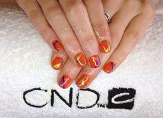 CND Shellac with Shellac/VINYLUX stripes  xDBDx  www.Facebook.com/DivineByDesignCNDNails