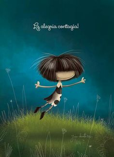 La alegria contagia Good Sentences, Spanish Quotes, Belle Photo, Girl Hairstyles, Pin Up, Beautiful Pictures, Animation, Pure Products, Drawings