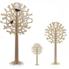 Plywood trees. I would love to get one of these to stand in the corner of our living room.