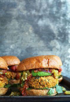 Green Chili Veggie Burgers