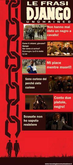Django Unchained - infografica con le citazioni più belle.