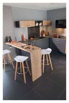 38 Gorgeous Small Kitchen Bar Design Ideas For Apartment Decor Small Kitchen Bar, Kitchen Bar Design, Small Apartment Kitchen, Rustic Kitchen, Diy Kitchen, Kitchen Decor, Kitchen Gadgets, Kitchen Tiles, Wooden Kitchen