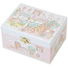 Little Twin Stars Kiki Lala Orgel Music Box Jewelry Box Room Series... ❤ liked on Polyvore featuring home, home decor, jewelry storage, paper jewelry boxes and star home decor