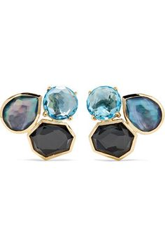 Ippolita - Rock Candy 18-karat Gold Multi-stone Earrings - one size