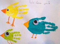 manualidad de primavera para niños fácil con pinturas