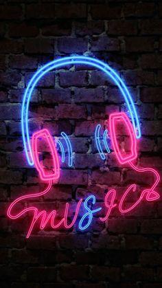 Neon Light Wallpaper, Baby Wallpaper, Music Wallpaper, Cute Wallpaper Backgrounds, Galaxy Wallpaper, Surfing Wallpaper, Phone Backgrounds, Neon Light Art, Neon Light Signs