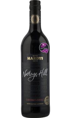 Hardys Nottage Hill Cabernet Shiraz South Eastern Australia - 12 Bottles Chocolate Mud Cake, Red Wines, Star Anise, Grape Juice, Bottles, Berries, Australia, Wine