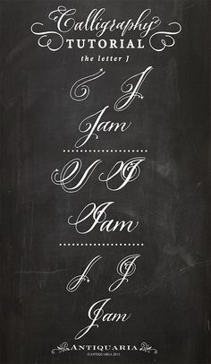 Calligraphy Tutorial   the Capital Letter J