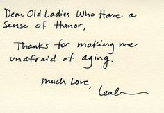 Dear Old Ladies