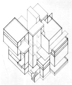69 best prototypes images contemporary architecture residential 1953 Hudson Wasp theo van doesburg axonometric drawing constructivism urban planning screen shot architectural styles