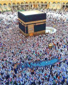 Beautiful view of the believers performing tawaaf. #discoverislaam