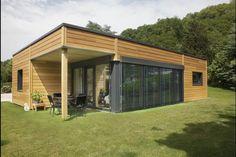 Myotte Duquet architecture bois, Plain pied 100m2 contemporain
