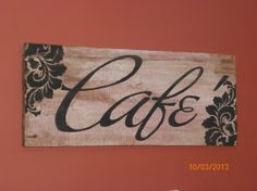 Old Barn Board Cafe Sign by FoxDecor on Etsy