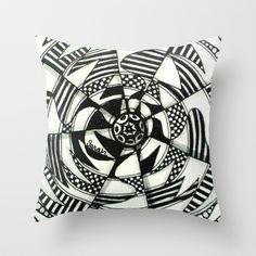 Crazy Daze Throw Pillow by Alohalani - $20.00