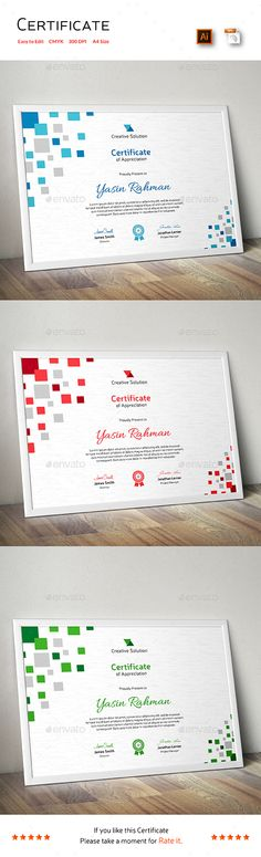 Buy Certificate by CreativeRacer on GraphicRiver. A Great Certificate Template for Creative Person. Features: Easy to Edit CMYK Color 300 DPI High Resolution Size . Certificate Layout, Certificate Of Merit, Certificate Design Template, Certificate Of Appreciation, Attendance Certificate, Cube Design, Box Design, Stationery Design, Branding Design