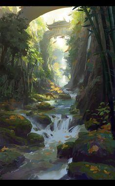 Bamboo Brook by dawnpu.deviantart.com on @deviantART