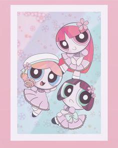 Powerpuff Girls Cartoon, Ppg And Rrb, Nickelodeon Cartoons, Cute Cartoon Wallpapers, Girl Wallpaper, Art Girl, Childhood, Ships, Fan Art