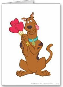 Scooby-Doo Heart Candy Greeting Card. great for valentine's day.