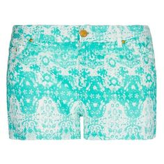 Printed Cotton Short ($35) ❤ liked on Polyvore
