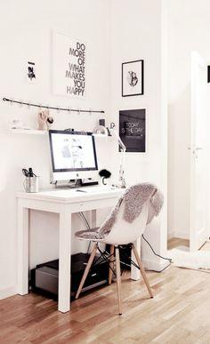 Ideias bacanas para o home office em pequenos espaços!