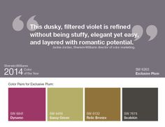 Exclusive Plum (SW 6263) is Sherwin-Williams Color of the Year 2014