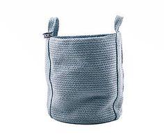 Mand Round, blauw/grijs, H 50 cm