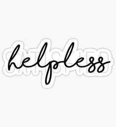 Hamilton - Helpless / Satisfied Sticker
