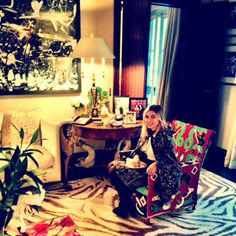 "Nasiba Adilova's Spring 2014 Paris Fashion Week Diary - ""Me in one of Dianne's Masai chairs"""