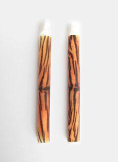 ss.THOMAS Tiger Print Candles (X2)