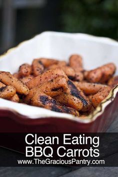 Clean Eating BBQ Carrots (not BBQ like the sauce, but BBQ like grilling them)