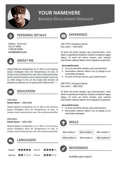 vesterbro free nature resume template for microsoft word modern