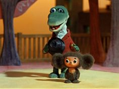 Cheburashka and the Crocodil Gena Juri Gagarin, Russian Cartoons, Bizarre Stories, Nostalgia, Frame By Frame Animation, Cult Movies, Movie List, Cute Characters, Children's Book Illustration